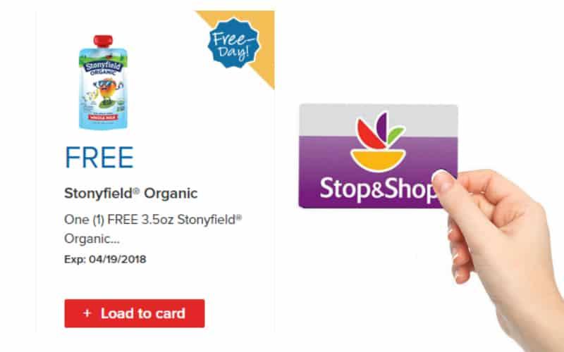 FREE 3.5oz Stonyfield Organic Yogurt Pouch