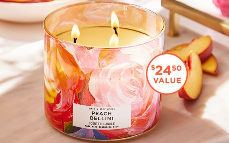 FREE 3-Wick Candle at Bath & Body Works