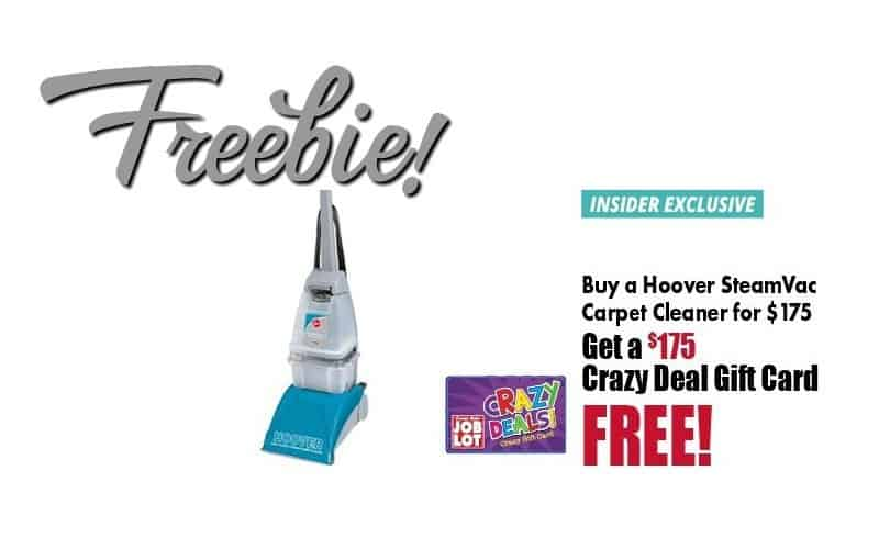 FREE HOOVER CARPET CLEANER!!! (Seriously!) 3 Days Only, Run!