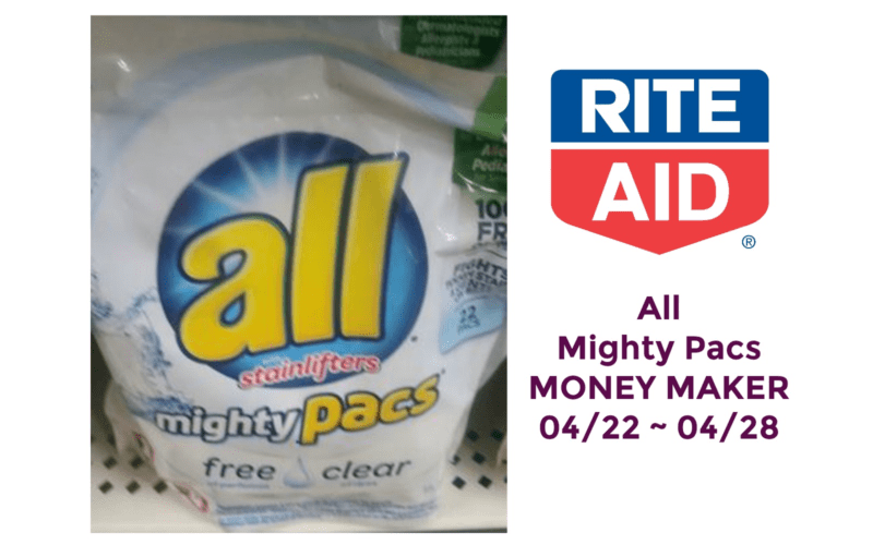 All Mighty Pacs Money Maker at Rite Aid 04/22 ~ 04/28!!