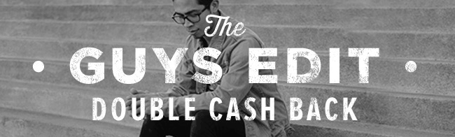 Ebates Men's Sale! UP TO DOUBLE CASH BACK OFFERS!