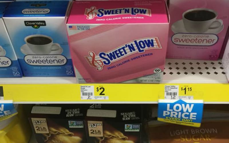 Sweet n' Low 100 count Sweetener Only $1.25