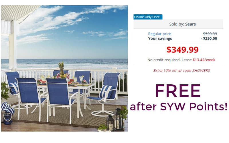 OMG! Free 7 Piece Garden Oasis Harrison Outdoor Dining Set!