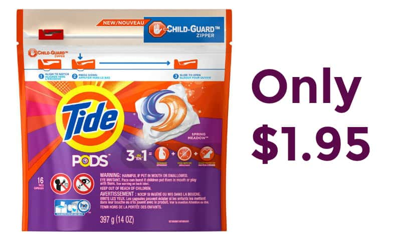 Tide Pods Only $1.95
