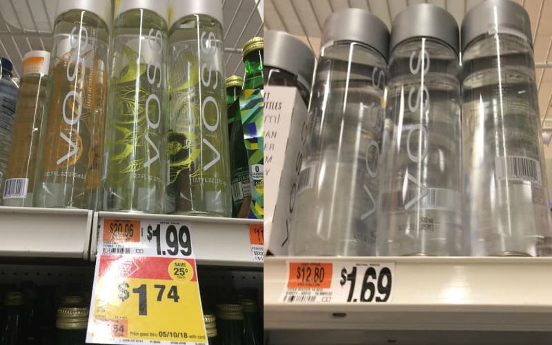 Voss Sparkling Water Only $.99!