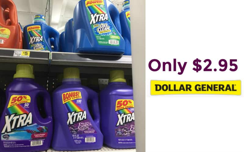 Xtra Laundry Detergent 150 oz Only $2.95!