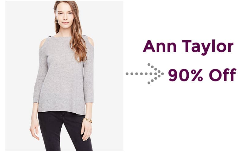 90% Off Ann Taylor Button Sweater!