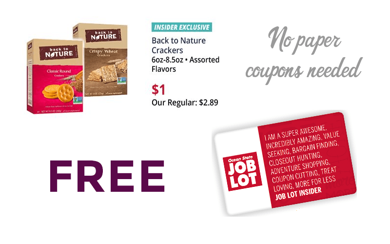 FREE Back to Nature Crackers.. 3 Days Only!!!
