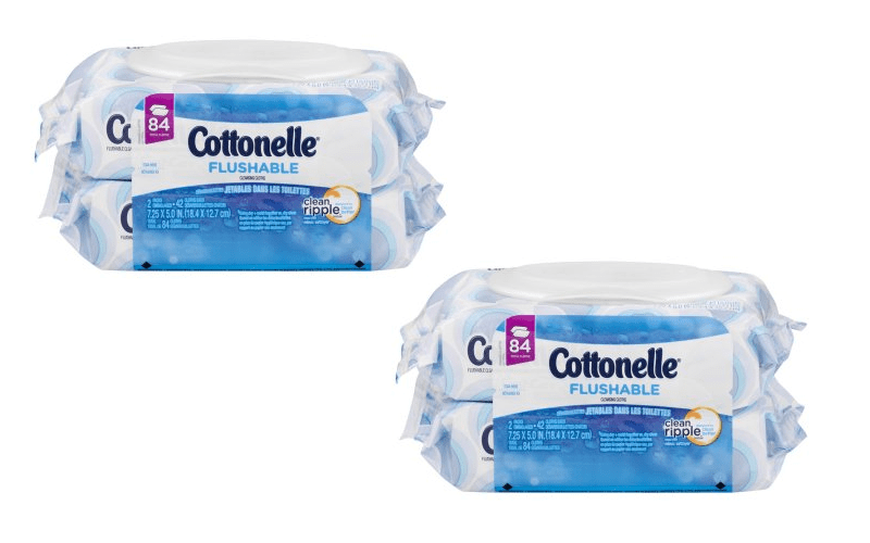 Cottonelle Flushable Wipes ONLY .37 per pack!!