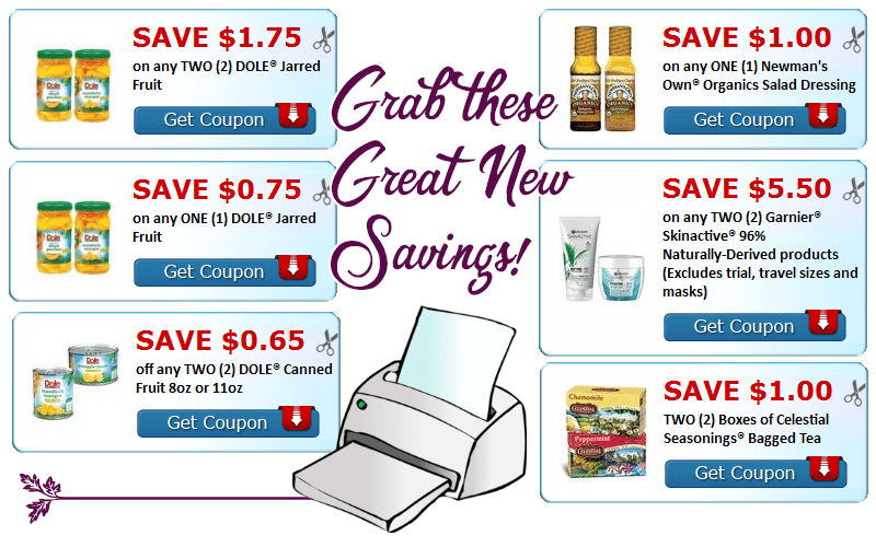 Have You Printed These Yet?! Save on Tea, Fruit & MORE!