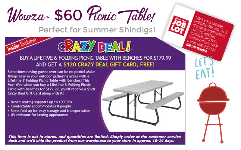 Get Your Picnic On Anytime… for ONLY $60!!! (April 9-11)