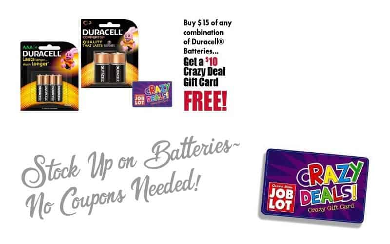 67% OFF Duracell Batteries without ANY paper coupons!!