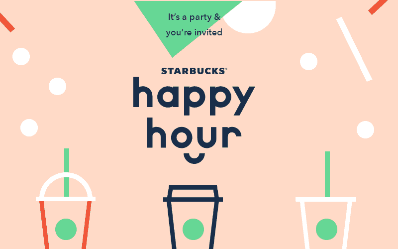 50% OFF Starbucks, Today from 3-6pm!