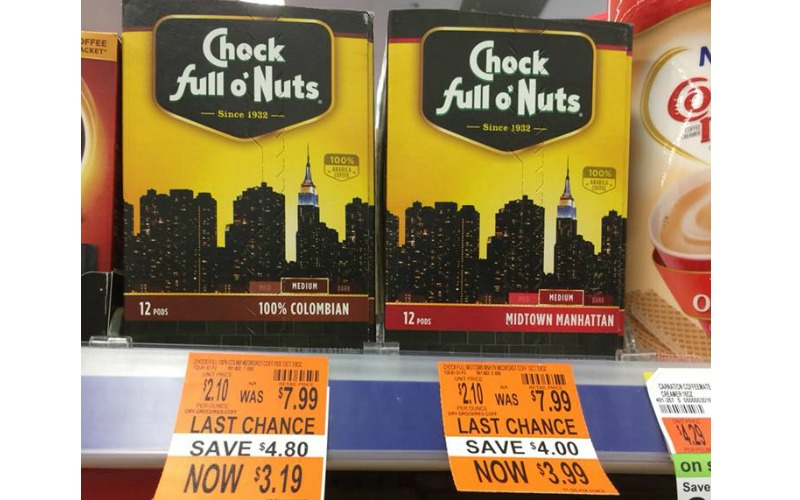 Chock Full O Nuts Pods Only $2.19! Today Only!
