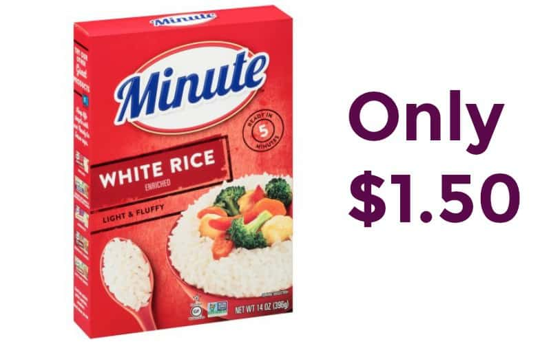 Minute Rice Only $1.50