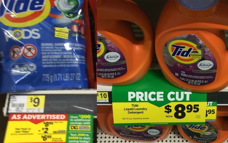 BIG Pack Of Tide Pods or Detergent Only $6.95