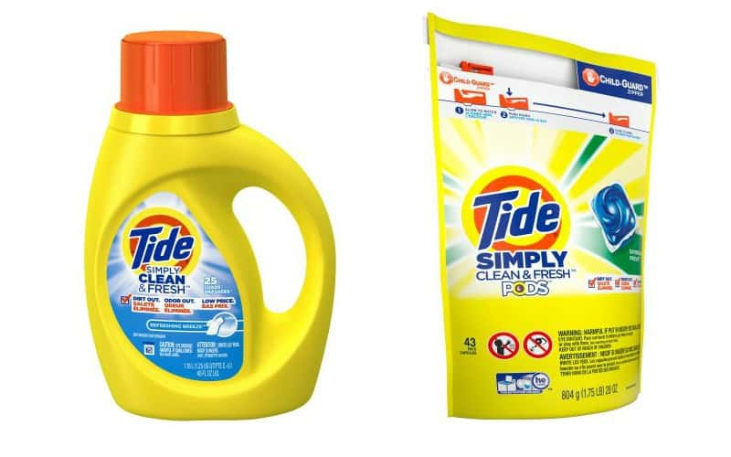 Tide Simply Laundry Detergent Only $1.95