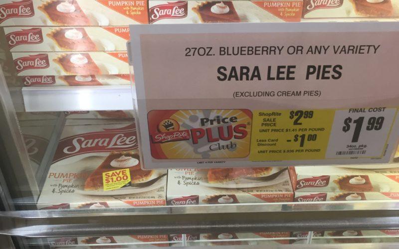 Sara Lee Pies, under $1!!