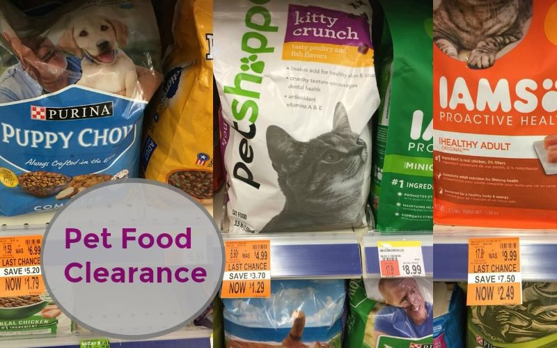 Pet Food Clearance at Walgreen's