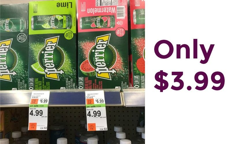 Perrier 10 Pack Cans Only $3.99