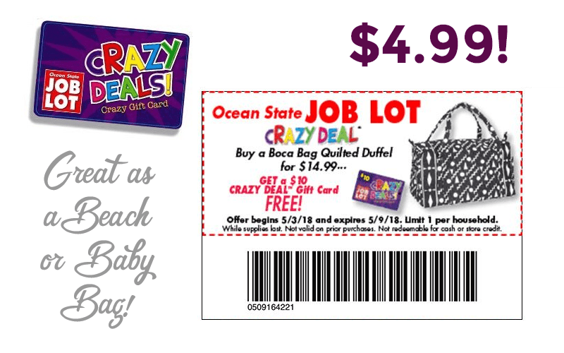 Boca Bag, perfect for Beach or Baby… ONLY $4.99!! (5/3-9)