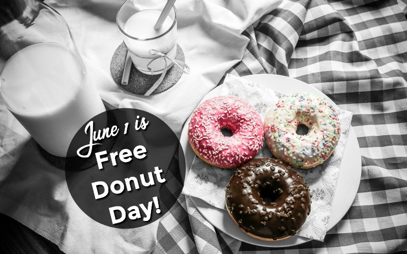 7 Places to Pickup F-R-E-E Donuts on June 1!