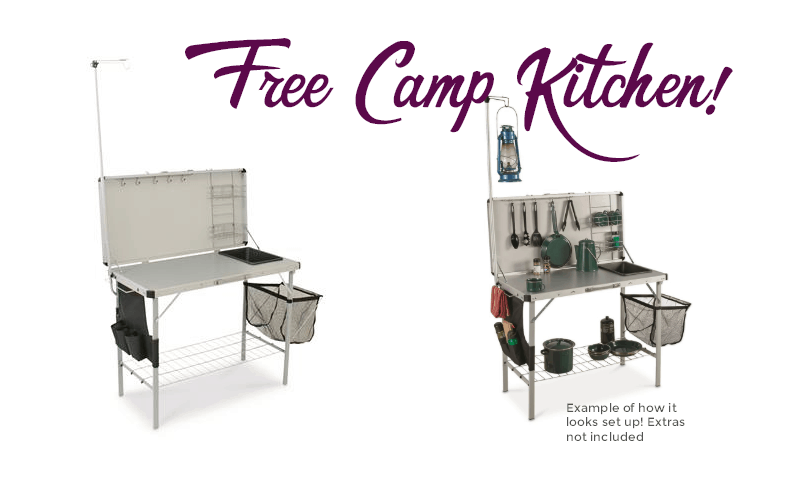 FREE Camp Kitchen, 3 days only!!
