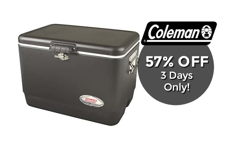 54QT Coleman Vintage Cooler nearly 60% OFF!