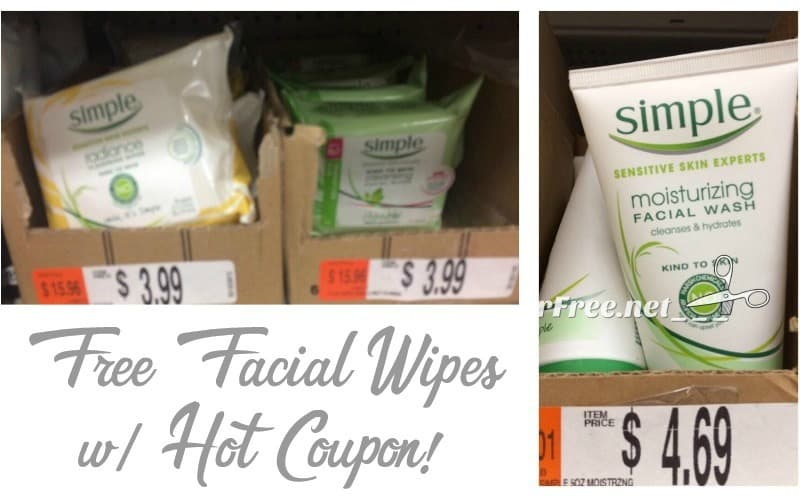 FREE Simple Skincare Wipes wyb Wash!