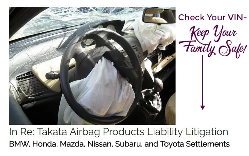 Takata Airbag RECALL~ Check Your VIN!