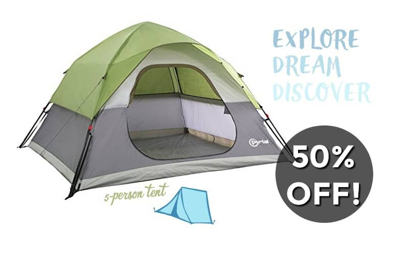 50% OFF a 5-Person Tent!! (5/17-5/23)