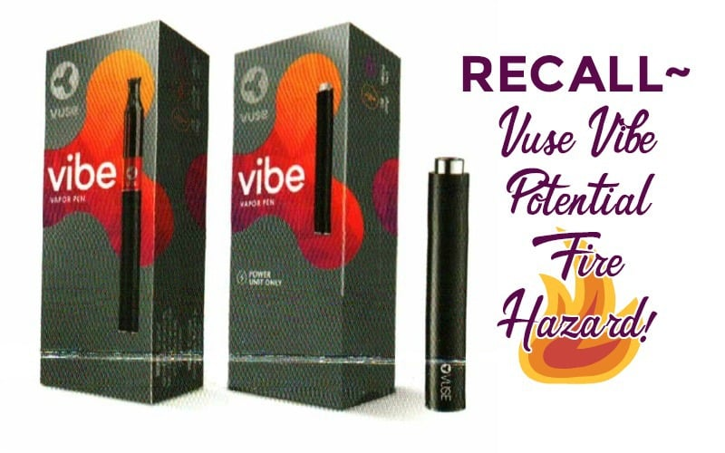 Vuse Vibe Vapor Pen RECALLED for Potential Fire 🔥 Hazard!!!