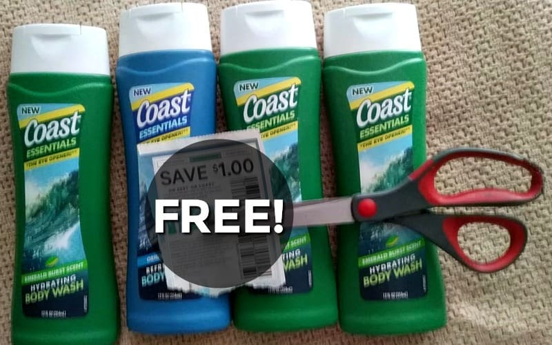 New Coupon = FREE Coast Body Wash!!!