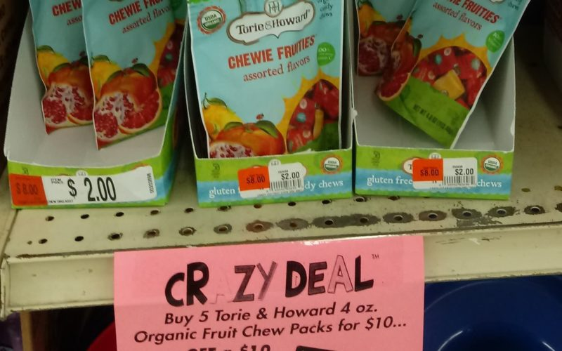 F-R-E-E Organic Fruit Chews.. pack in lunchboxes!
