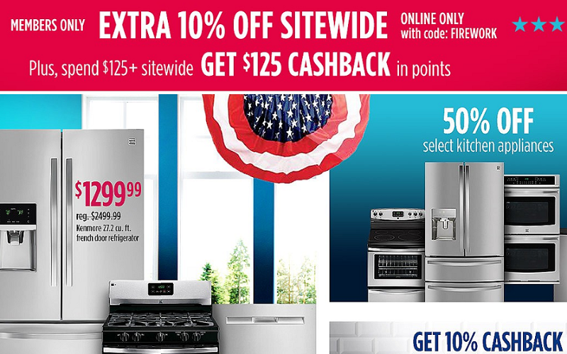 $125 Cashback in Points at Sears! More FREE Stuff after Points!