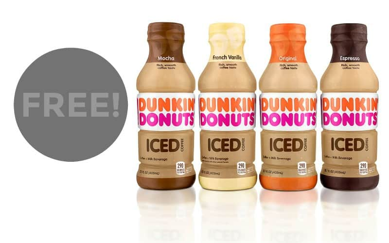 FREE Dunkin Donuts Iced Coffee Coupon!