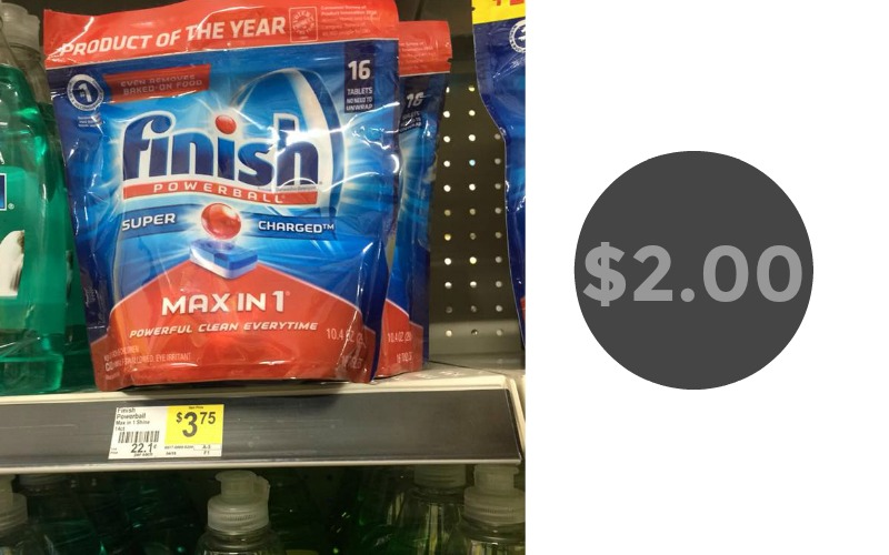 Finish Max in 1 Dishwasher Detergent Only $2.00