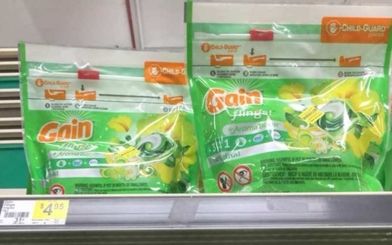 Gain Flings or Laundry Detergent Only $1.95!