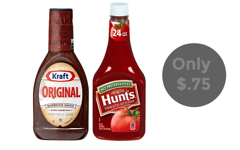 Kraft Barbecue Sauce Or Hunt's Ketchup Only $.75!