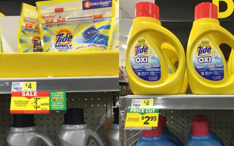 Tide Simply Pods or Liquid Detergent Only $1.95!