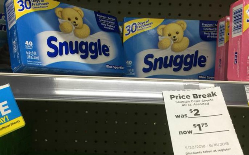 Snuggle Dryer Sheets Only $.75!