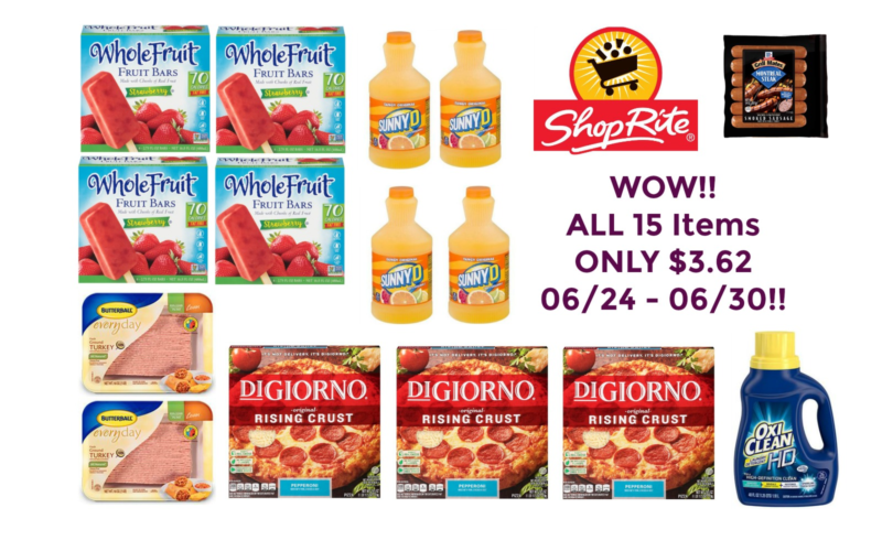 WOW!! Get ALL 15 Items for ONLY $3.62 at Shop Rite 06/24 – 06/30!!