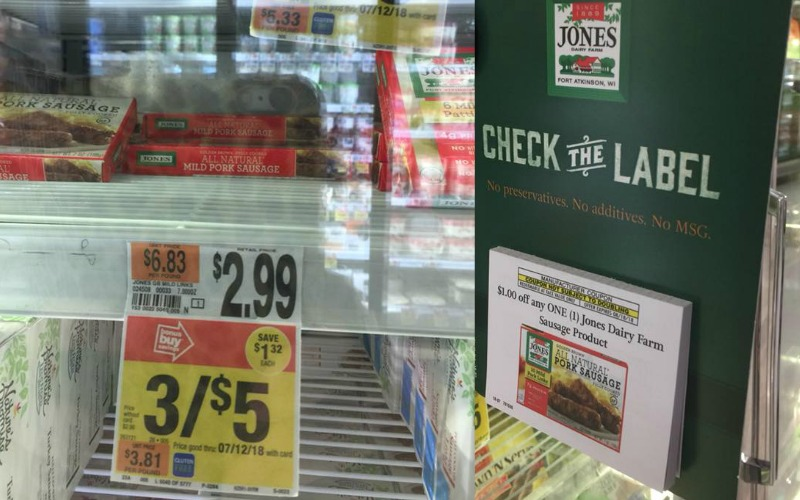 Jones Breakfast Sausage Only $.67!