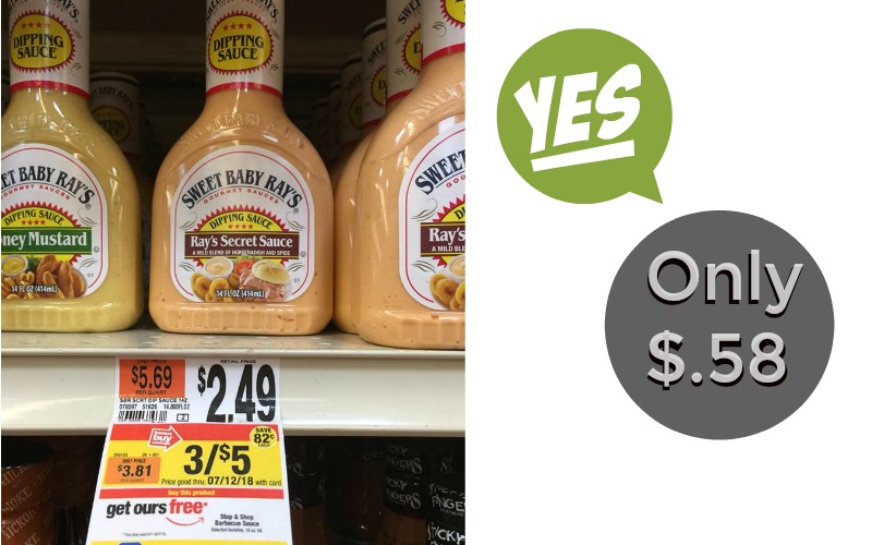 Dipping Sauce & Barbecue Sauce Only $.58 Each!