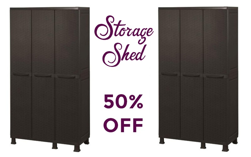 3-Door Storage Shed 50% OFF!!! Perfect for Poolside!