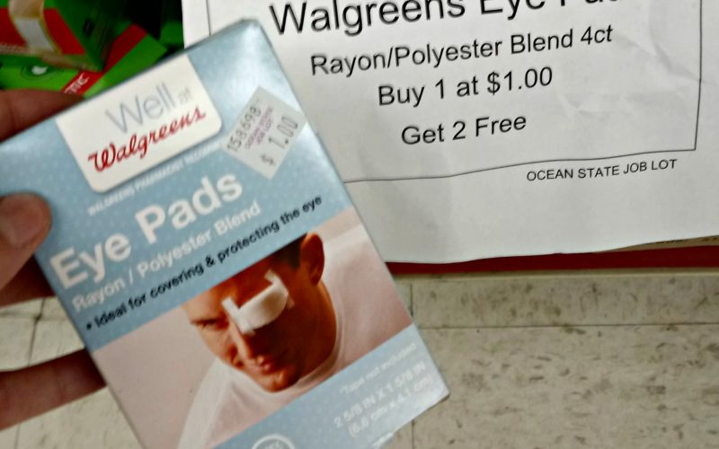 33¢ for 4ct. Eye Pads~ NO coupons needed!