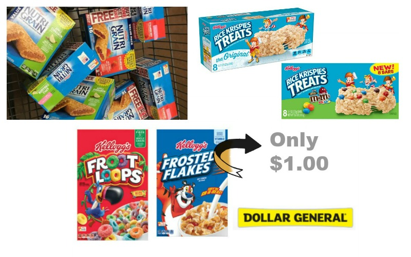 Kellogg's Cereal, Nutrigrain Bars, Special K Bars, or Rice Krispies Treats Only $1!