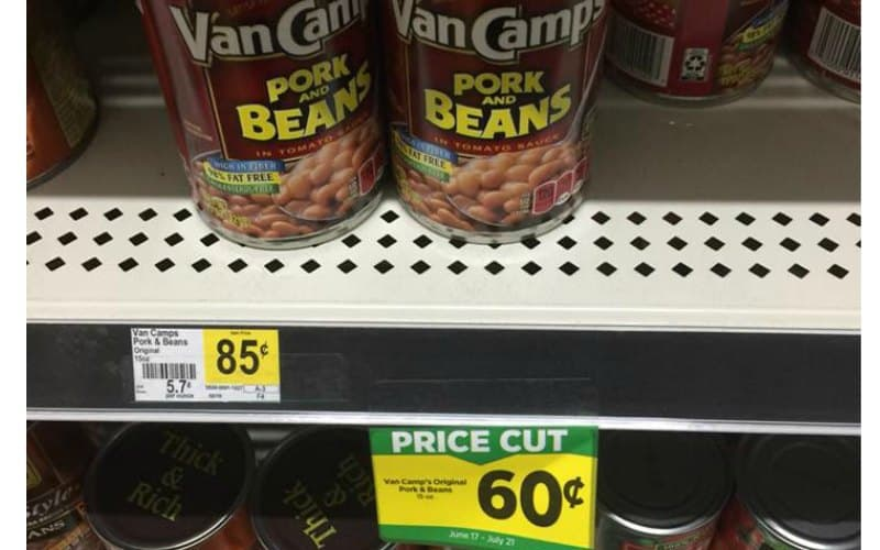 Van Camp's Pork & Beans Only $.60
