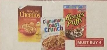 WOW!! Get the BIG Boxes of GM Cereal for a Quarter at Shaw's 07/20 ~ 07/26!!