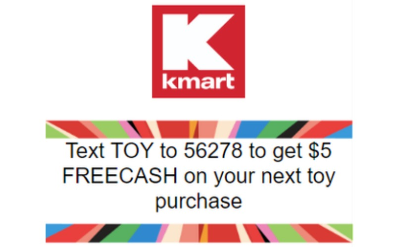 $5 in FREECash for Toy Purchase at Kmart!